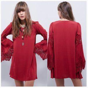 For Love and Lemons Festival Dress Lace Bell Sleev